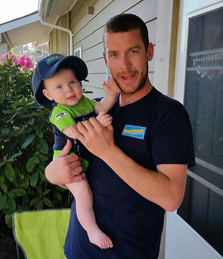 Hayden and his daughter